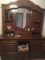 Headboard, Dresser and Mirror Hutch in Oswego, Illinois