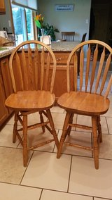 Oak Counter Stools - set of 3 in Chicago, Illinois