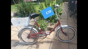 Red vintage Folding Bike in Lakenheath, UK