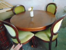 Antique round table and 4 chairs in Ramstein, Germany