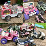 6 Power Wheels type battery operated kids cars in St. Charles, Illinois