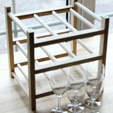 Wine Rack with (5) wine glasses in Ramstein, Germany