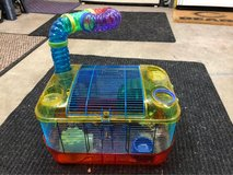 critter Trail hamster cage with accessories & food in Joliet, Illinois