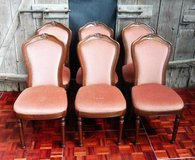 6 Antique Cherrywood Chairs with Highbacks in Ramstein, Germany