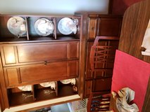 Oak china cabinet with table six chairs in Fort Campbell, Kentucky