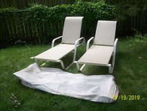 Pair (2) of chaise lounges with cover in St. Charles, Illinois