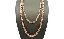 """CLEARANCE ***BRAND NEW***14K Rose Gold Plated Rope Chain Necklace***18"""" in Kingwood, Texas"""