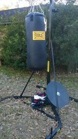 Punching Bag w/Stand&Gloves in Houston, Texas