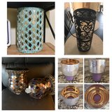 Various home decor: candle shade, lantern, candle holders etc... in Morris, Illinois