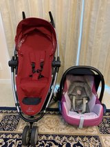 Infant Maxi-cosi car seat and stroller in Okinawa, Japan