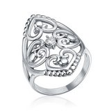 CLEARANCE ***BRAND NEW***Silver Cz Filigree Hearts Stainless Steel Ring***SZ 7 in Cleveland, Texas