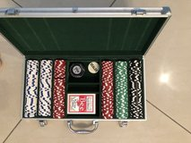 Poker set with aluminum carry case in Okinawa, Japan