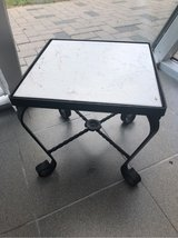 Iron/ 'Marble' tile plant stand/ table in Ramstein, Germany