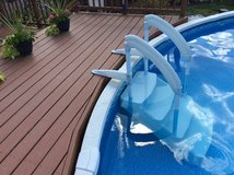 Pool stairs in St. Charles, Illinois