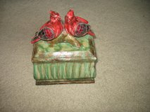 Cardinal decorative box in Westmont, Illinois