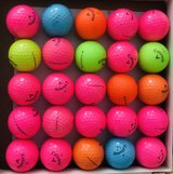 25 colorful Callaway supersoft golf balls near mint condition in Oswego, Illinois