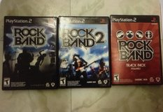 PlayStation 2 Rock Band w/ 3 Games in Fort Campbell, Kentucky