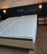 Complete set of king size bed with inbuilt light and radio in Ramstein, Germany