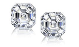 CLEARANCE ***BRAND NEW*** 3CTTW ASSCHER CUT CZ EARRINGS**** in Houston, Texas