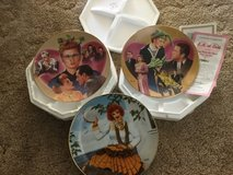 I love Lucy decorative collectors plates in Travis AFB, California