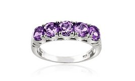 CLEARANCE ****BRAND NEW***1.25 CTTW Amethyst Half-Eternity Ring in Sterling Silver****SZ 8 in Cleveland, Texas