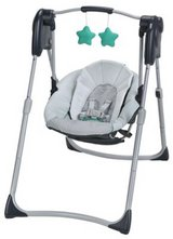 graco slim baby swing rocker glider in Leesville, Louisiana