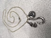 Maori Hook Necklace with Mermaid and Sailboat in Rope Circle on Stainless Chain All Pendants Dou... in Kingwood, Texas