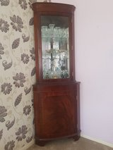 Solid Mahogany Corner Display Cabinet in Lakenheath, UK