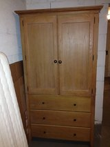 Solid wood TV cabinet /cupboard with draws in Wiesbaden, GE