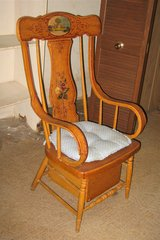 Antique Oak Wood Adult Commode / Potty Chair in Naperville, Illinois