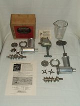 Vintage Sunbeam Mixmaster Attachments Drink Mixer Meat / Veggie Grinder in Plainfield, Illinois