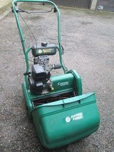 SUFFOLK PUNCH 17s PETROL LAWN MOWER WITH ROLLER in Lakenheath, UK