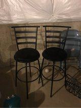 two black high bar stool in Plainfield, Illinois