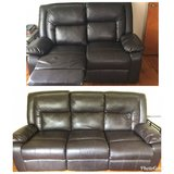 Leather couch recliner set in Warner Robins, Georgia