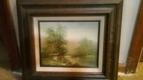 Cabin by the river oil painting in Westmont, Illinois