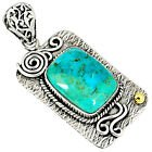 New - Blue Arizona Mohave Turquoise 925 Sterling Silver Pendant (Includes a chain) in Alamogordo, New Mexico