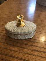 New Lenox Porcelain Trinket Box - Birthstone Collection - March - New in Box in Plainfield, Illinois