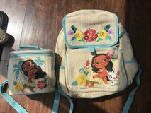Moana Backpack and lunch box in Plainfield, Illinois