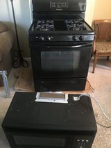 Black Frigidaire Gas Range and over the hood Micowave in Joliet, Illinois