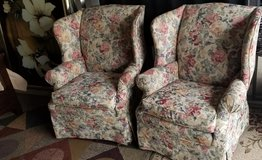 Broyhill match set ,Wingback florial chairs in Fort Campbell, Kentucky