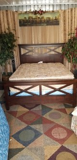 Complete Contempery Chocolate brown Queen size bed in Fort Campbell, Kentucky