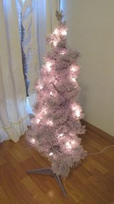 purple tree with lights in Alamogordo, New Mexico