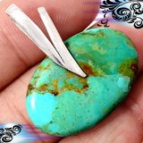 New - Sleeping Beauty Arizona Turquoise 925 Sterling Silver Pendant (Includes a chain) in Alamogordo, New Mexico