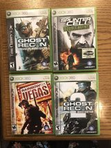 4 XBOX 360 Tom Clancy Games in Chicago, Illinois