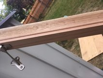 *** 8' SOLID WHITE OAK HAND RAIL with brackets *** (NEW) in Tacoma, Washington
