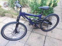 Dark Blue Raleigh Max24 in Lakenheath, UK