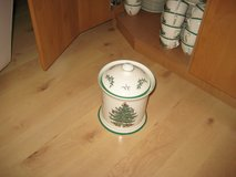 SPODE Christmas Tree Cookie Jar & Flower Pots (Made in England) in Ramstein, Germany