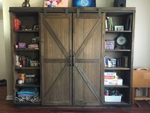 Wood Farmhouse Barn Door Bookcase-Moving Sale in St. Charles, Illinois