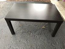 Black coffee table . Great for college or basement in St. Charles, Illinois