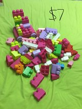 Building blocks and toy cat in Alamogordo, New Mexico